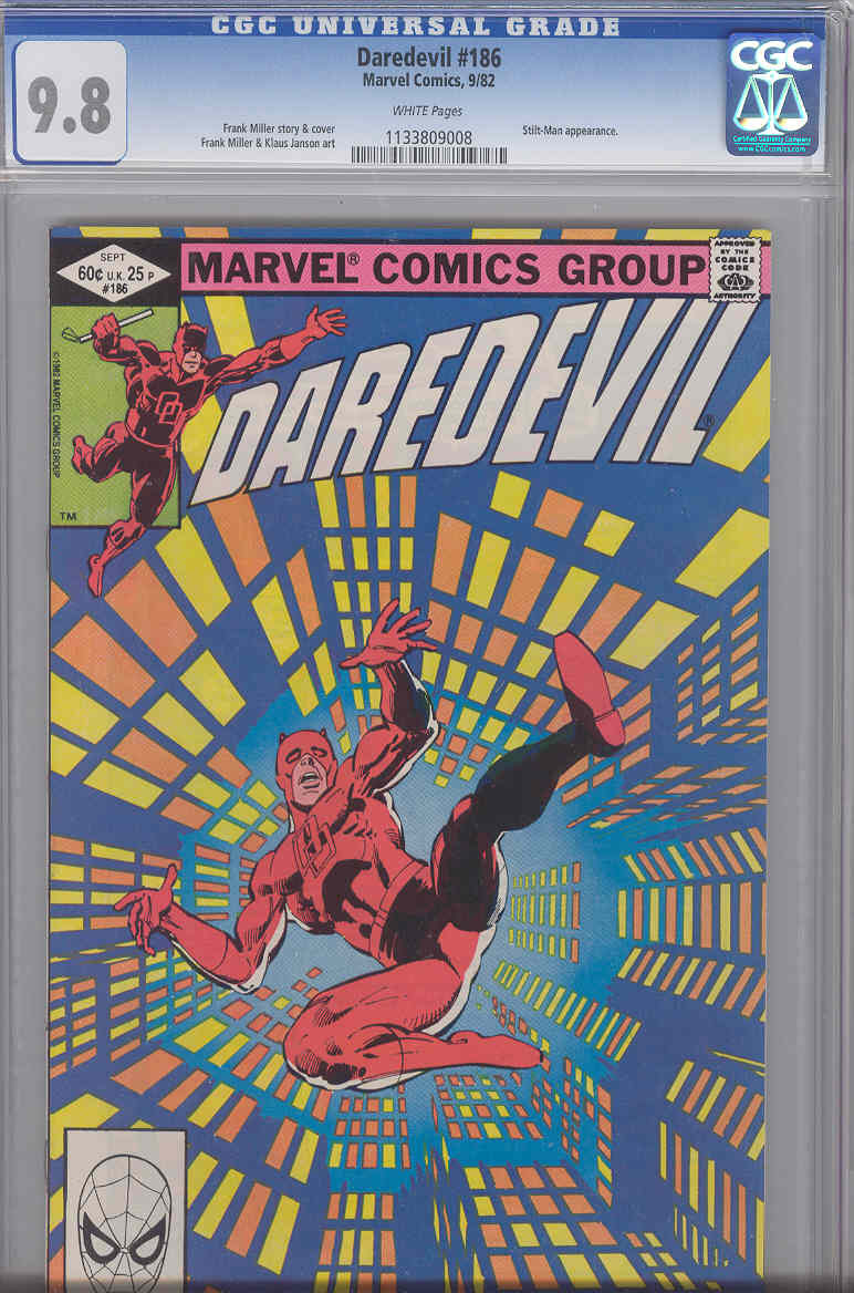 DAREDEVIL None Are Priced No Reserve Auction Only Includes Worlds Largest HIGH GRADE Daredevil Collection Certificates 183 96 W PUNISHER 1982 184